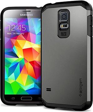 Ochranný kryt Spigen Tough Armor Gunmetal Samsung Galaxy S5 2 7 d2c9307f5a2
