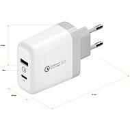 AlzaPower Q200C Quick Charge 3.0 bílá - Nabíjačka do siete