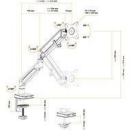AlzaErgo Arm S100B Premium vesmírne čierny - Držiak na monitor