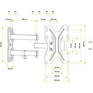 AlzaErgo M150B Keyhole - Držiak na TV