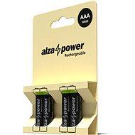 AlzaPower Rechargeable HR03 (AAA) 1000 mAh 4 ks v eko-boxe - Nabíjateľná batéria