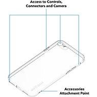 AlzaGuard na iPhone 7/8/SE číre - Kryt na mobil