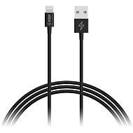 AlzaPower Core Lightning MFi (89) 0.5 m čierny - Dátový kábel