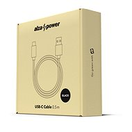 AlzaPower AluCore USB-C 3.2 Gen1, 0,5 m Black - Dátový kábel