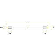 AlzaPower AluCore USB-C 3.2 Gen1, 0,5 m Silver - Dátový kábel