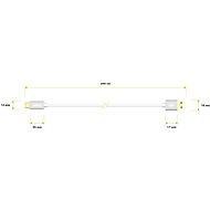 AlzaPower AluCore USB-C 3.2 Gen1, 2 m strieborný - Dátový kábel