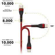 AlzaPower CompactCore USB-C, 1 m červený - Dátový kábel
