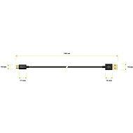 AlzaPower Core Micro USB 1 m čierny - Dátový kábel