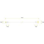 AlzaPower Core Micro USB 1 m biely - Dátový kábel