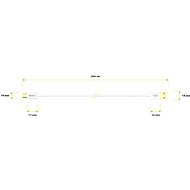 AlzaPower Core Micro USB 2 m biely - Dátový kábel