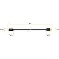 AlzaPower Core USB-C 3.2 Gen1, 0,5 m čierny - Dátový kábel