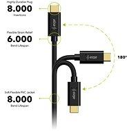 AlzaPower Core USB-C 3.2 Gen 1,2 m čierny - Dátový kábel