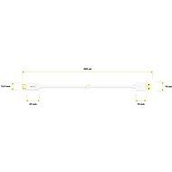 AlzaPower Core USB-C 3.2 Gen1, 2 m biely - Dátový kábel