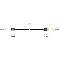 AlzaPower Core Charge 2.0 USB-C 2 m čierny - Dátový kábel