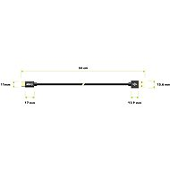AlzaPower AluCore Charge 2.0 USB-C 0,5 m Black - Dátový kábel