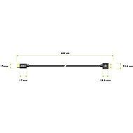 AlzaPower AluCore Charge 2.0 USB-C 2 m Black - Dátový kábel