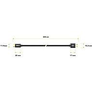 AlzaPower AluCore Charge 2.0 USB-C 3 m Black - Dátový kábel