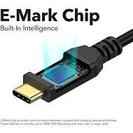 AlzaPower AluCore USB-C/USB-C 2.0, 5 A, 100 W, 1 m čierny - Dátový kábel