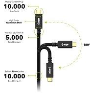 AlzaPower AluCore USB-C/USB-C 3.2 Gen 1, 3 A, 60 W, 0,5 m čierny - Dátový kábel