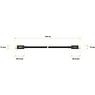 AlzaPower AluCore USB-C/USB-C 3.2 Gen 1, 3 A, 60 W, 1 m čierny - Dátový kábel