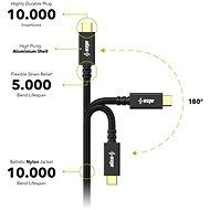 AlzaPower AluCore USB-/USB-C 3.2 Gen 2, 5 A, 100 W, 0,5 m čierny - Dátový kábel