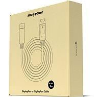 AlzaPower DisplayPort (M) na DisplayPort (M) prepojovací 3 m čierny - Video kábel