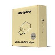AlzaPower OTG USB-C (M) na USB-A 3.0 (F) strieborný - Redukcia