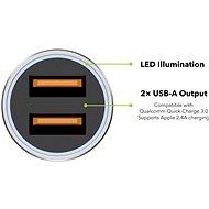 AlzaPower Car Charger X520 Fast Charge strieborná - Nabíjačka do auta