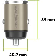 AlzaPower Car Charger M110 Fast Charge Mini strieborná - Nabíjačka do auta