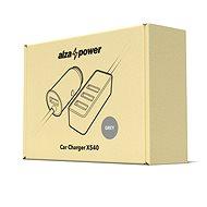 AlzaPower Car Charger X540 Multi Charge sivá - Nabíjačka do auta