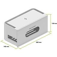 AlzaPower Cable Box Socket sivý - Organizér káblov