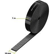 AlzaPower VelcroStrap+ Roll 1 m čierny - Organizér káblov