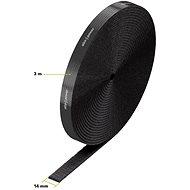 AlzaPower VelcroStrap+ Roll 3 m čierny - Organizér káblov
