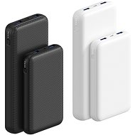AlzaPower Carbon 10000 mAh Fast Charge + PD3.0 White - Powerbank