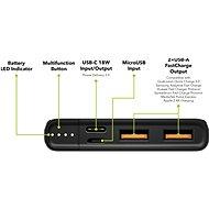 AlzaPower Metal 10 000 mAh Fast Charge + PD3.0 čierna - Powerbank