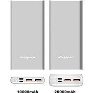 AlzaPower Metal 10 000 mAh Fast Charge + PD3.0 strieborná - Powerbank