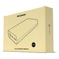 AlzaPower Metal 20 000 mAh Fast Charge + PD3.0 čierna - Powerbank