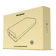 AlzaPower Metal 20 000 mAh Fast Charge + PD3.0 strieborná - Powerbank