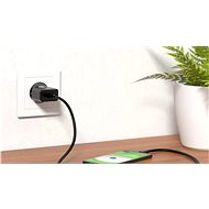 AlzaPower Smart Charger 2.1A + AlzaPower AluCore Micro USB 1m černý - Nabíjačka do siete