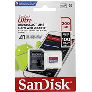 SanDisk MicroSDXC 200 GB Ultra Android Class 10 A1 UHS-I + SD adaptér - Pamäťová karta