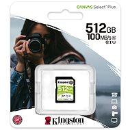 Kingston Canvas Select Plus SDXC 512GB Class 10 UHS-I - Pamäťová karta