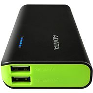 ADATA PT100 Power Bank 10 000 mAh čierno-zelený - Powerbank