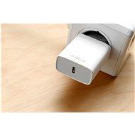 FIXED Travel s USB-C výstupom a USB-C/Lightning káblom podpora PD 1 m MFI 18 W, biela - Nabíjačka do siete