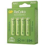 GP ReCyko 2700 AA (HR6), 4 ks - Nabíjateľná batéria