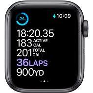 Apple Watch Series 6 40 mm Vesmírne sivý hliník s čiernym športovým remienkom - Smart hodinky