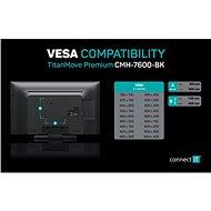 CONNECT IT TitanMove Premium, black - Držiak na TV