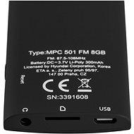 Hyundai MPC 501 FM 8 GB čierny - MP4 prehrávač