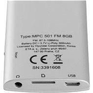 Hyundai MPC 501 FM 8 GB strieborný - MP4 prehrávač