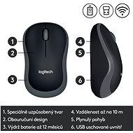 Logitech Wireless Mouse M185 sivá - Myš