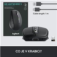 Logitech MX Anywhere 3 Graphite - Myš